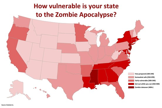 apocalypse preparation how prepared is your state